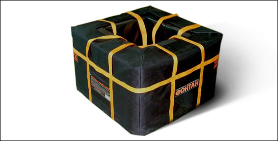 Container with protective cover FONTAN-1